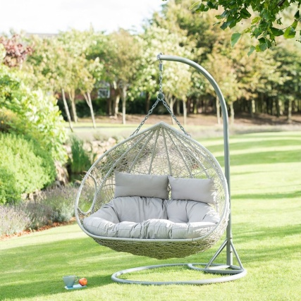Siena Hanging Snuggle Egg Chair Garden Furniture B Amp M