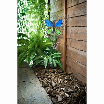 331347-stained-glass-butterfly-stake-blue-green