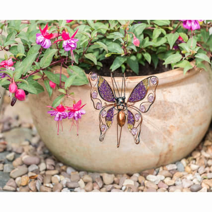 331349-glitter-butterfly-plant-pot-hook-purple