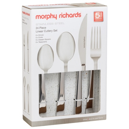 331384-morphy-richards-stainless-steel-24pc-linear-cutlery-set