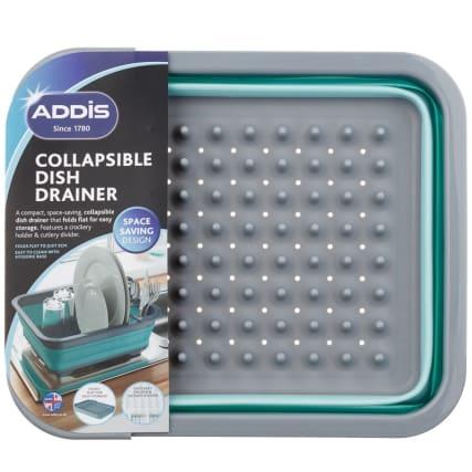 332200-addis-collapsible-dish-drainer-aqua-and-grey