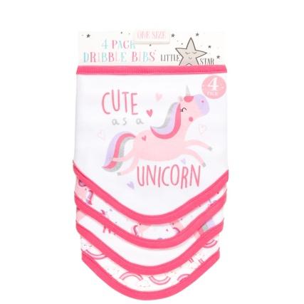 332372-4pk-dribble-bibs-pink-unicorn