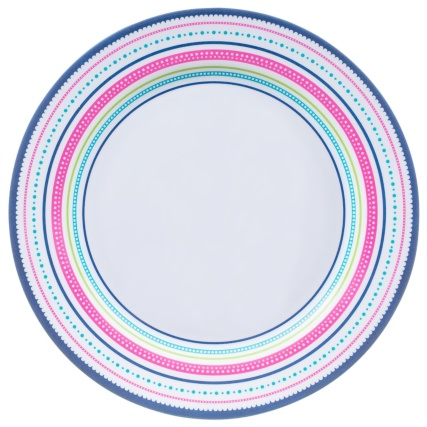 Round Printed Dinner Plate - Border
