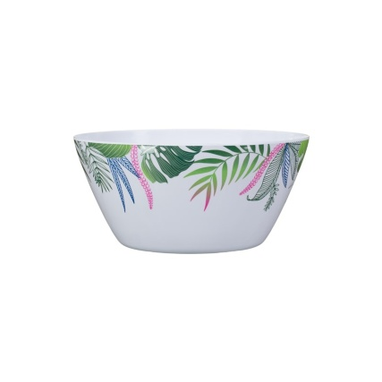 Small Printed Dinner Bowl - Leaf