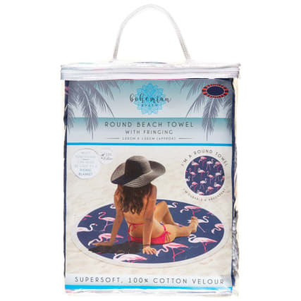 332551-round-beach-towel-with-fringing-flamingo