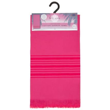 332621-lightwheight-cotton-hammam-towel-fuschia-stripe