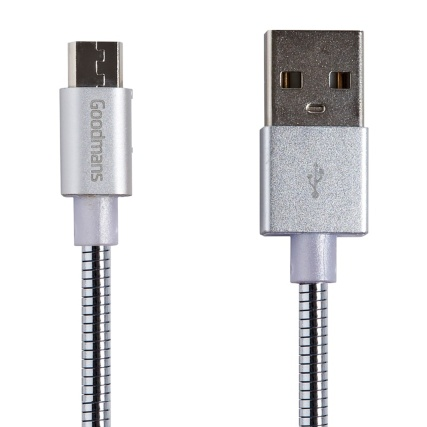 332821-goodmans-metal-micro-usb-cable-silver
