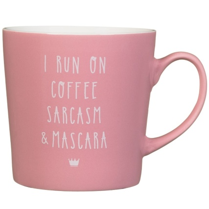 333086-colour-slogan-mug-i-run-on-coffee-sarcasm-and-mascara