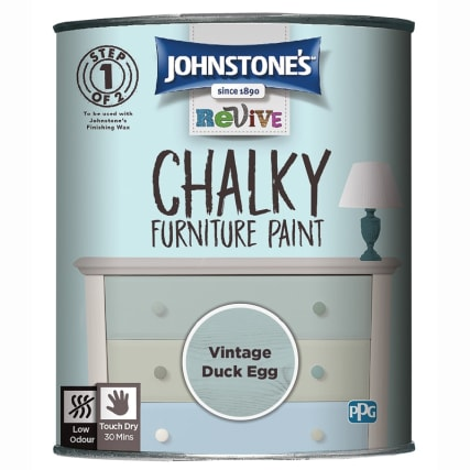 Johnstone's Revive Chalky Furniture Paint - Vintage Duck Egg
