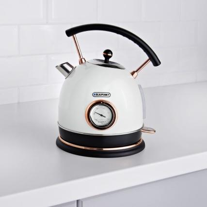 Blaupunkt Retro Kettle White Kitchen Electricals B Amp M