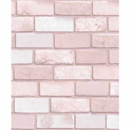 334368-arthouse-diamond-pink-brick-wallpaper