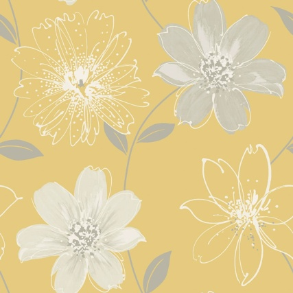 334375-arthouse-samba-floral-yellow-wallpaper