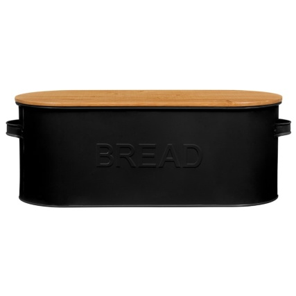 334654-russell-hobbs-oval-bread-bin-with-wooden-lid-black
