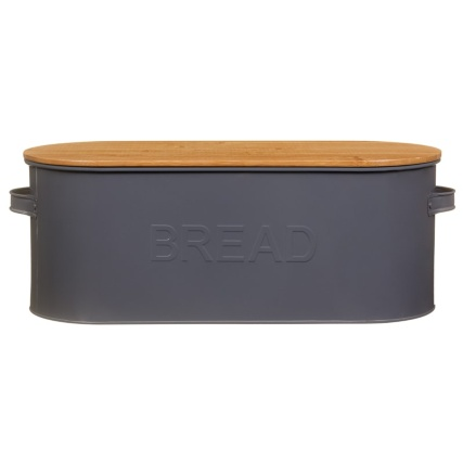 334654-russell-hobbs-oval-bread-bin-with-wooden-lid-grey-4