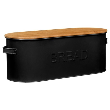 334654-russell-hobbs-oval-bread-bin-with-wooden-lid-Black-2