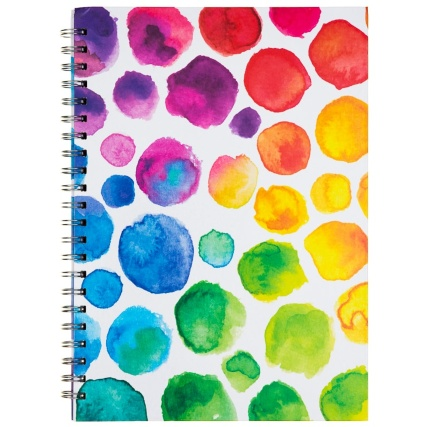 334791-a4-hard-back-book-fashion-watercolour-dots