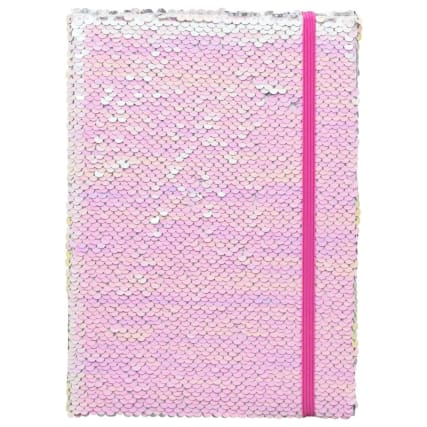 334799-a5-reversible-sequin-notebook-pink-silver