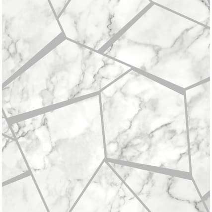 334917-fine-decor-fractal-marble-silver-wallpaper