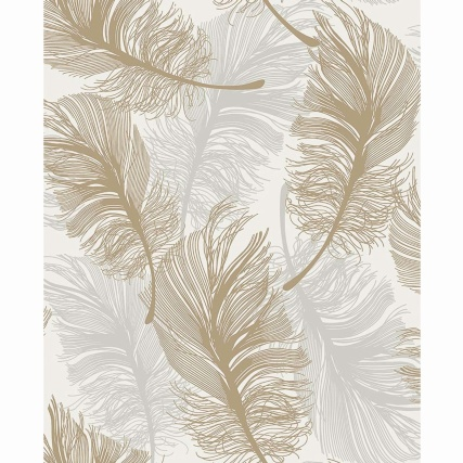 335104-fine-decor-plume-foil-gold-silver-wallpaper-2