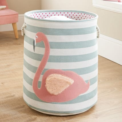 335192-childrens-laundry-hamper-flamingo