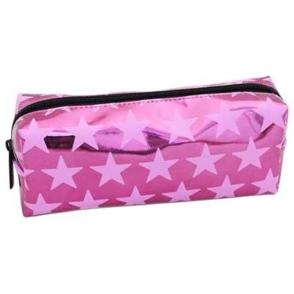 335328--printed-mix--metallic-stars-pink-pencil-case