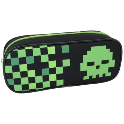 335348-sporty-mix--invader-skull-green-pencil-case