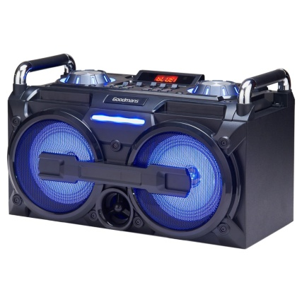 Goodmans Extra Bass Bluetooth Boombox Speakers B Amp M