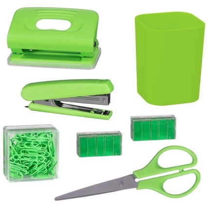 335369-desk-top-stationery-set-group-green