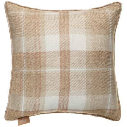 335393-heritage-colection-oakland-woven-check-cushion-beige1