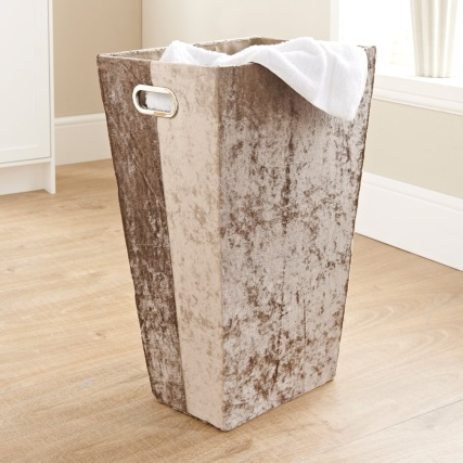 335841-crushed-velvet-laundry-hamper-gold
