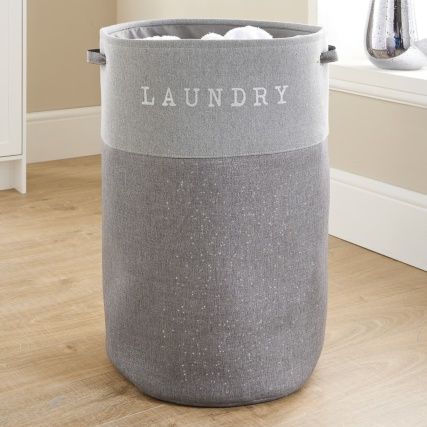 Large Foldable Laundry Hamper Light Grey Laundry B Amp M