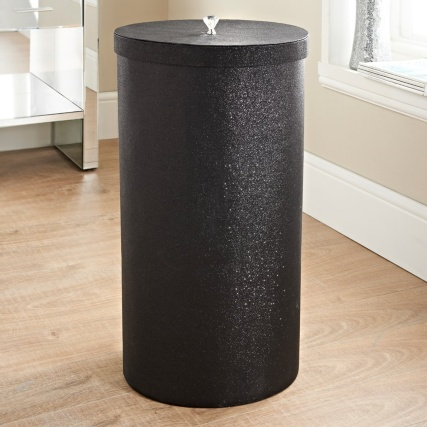 335907-tall-sparkle-laundry-hamper-black