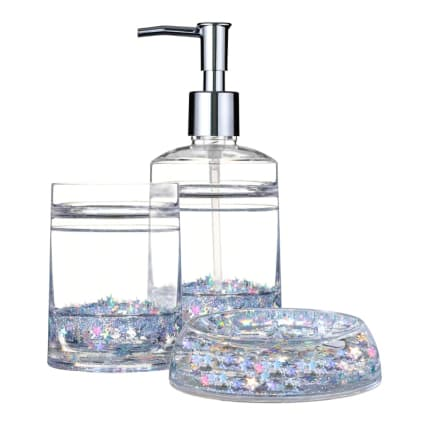 336145-336144-336143-acrylic-glitter-star-bathroom-soap-dispenser-soap-dish-and-tumbler