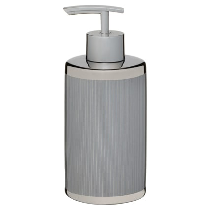 336191-metallic-printed-soap-dispenser-grey-with-silver-stripe