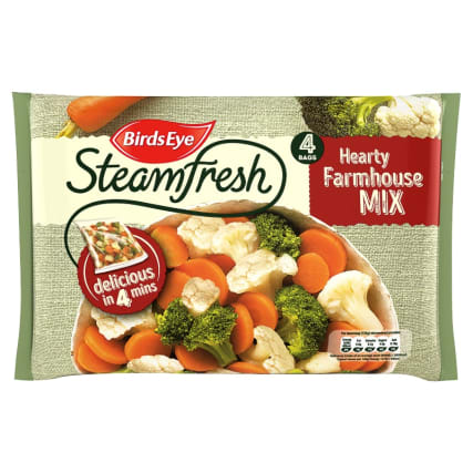 Birds Eye Steamfresh 4 Hearty Farmhouse Vegetable Mix 540g
