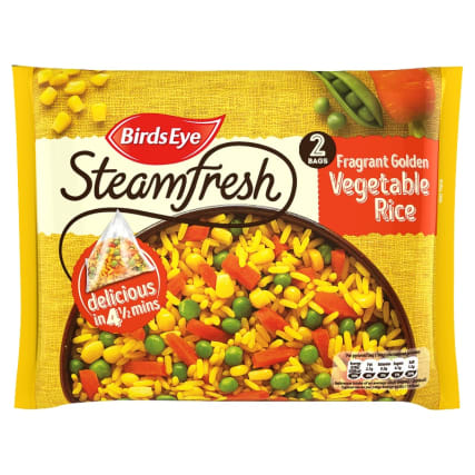 Birds Eye Steamfresh 2 Fragrant Golden Vegetable Rice 380g