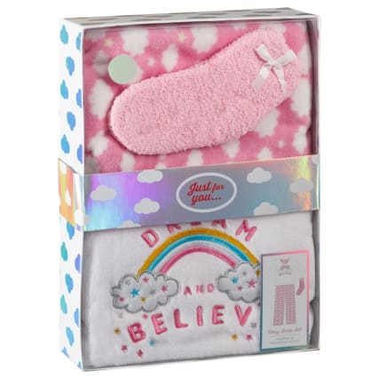 Girls Boxed PJ Set - Dream & Believe
