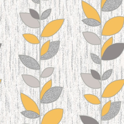 339138-fine-decor-synergy-yellow-leaf-wallpaper