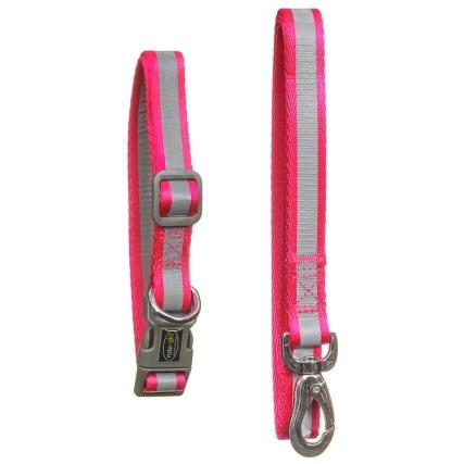 350344-niteglow-reflective-collar-and-lead-set-pink