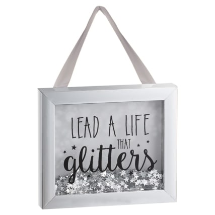 Sequin Box Plaque - Lead a Life that Glitters