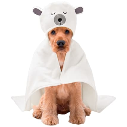 Christmas Dog Bath Hoodie - Polar Bear