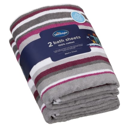 340005-silentnight-coastal-stripe-2pk-bath-sheets-mulberry
