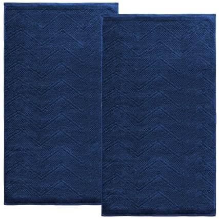 340006-silentnight-chevron-waffle-2pk-bath-sheets-blue-2