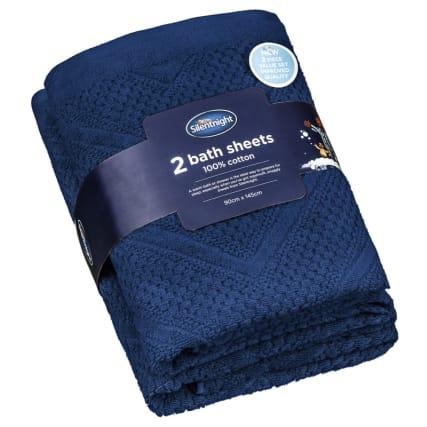 340006-silentnight-chevron-waffle-2pk-bath-sheets-blue