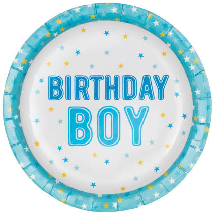 340123-16-pack-kids-party-paper-plates-birthday-boy-3