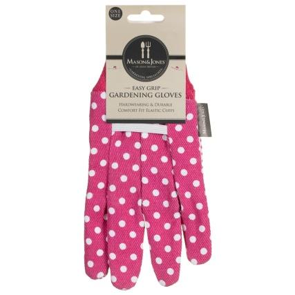 342095-mason--jones-easy-grip-poly-cotton-gloves-lime-pink-polka-dot