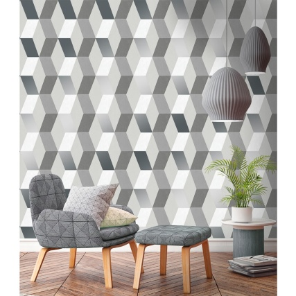 Hatton Wallpaper - Silver