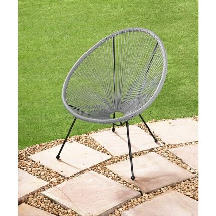 Hawaii String Garden Chair Grey Garden Furniture B Amp M