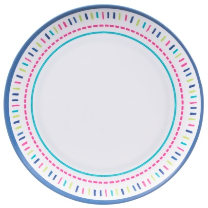 Round Printed Side Plate - Dash