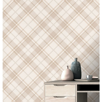 343947-turner--gray-diamond-plaid-neutral-wallpaper